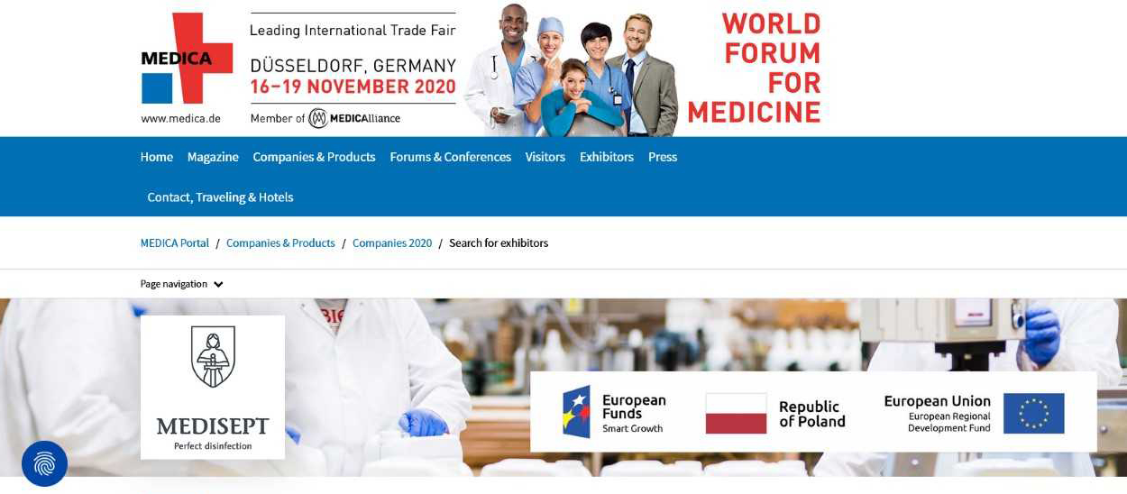 Zwiększenie konkurencyjności Medi-Sept sp. z o.o. poprzez uczestnictwo w programie promocji branży sprzętu medycznego